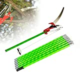 TBVECHI 26FT Tree Pole Pruner Tree Saw Long Reach Extension Pole Pruning Trimming Tall Trees for Sawing High-Altitude Branches Print House Wash Window Garden Tool