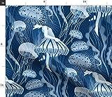 Spoonflower Stoff – Unterwasser-Tanz Wasser Frau Home