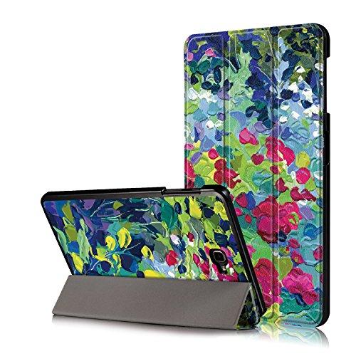 Xuanbeier Funda Compatible con Samsung Galaxy Tab A 10.1 SM-T580 T585 (Tab A6) con Soporte Función Auto-Sueño/Estela,Pétalo