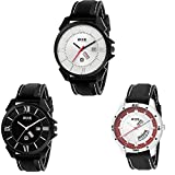 Axe Style Analogue Modern Color for Dial, Different Dials Exclusive Combo of Three Day and Date Watches for Boy-X-3002