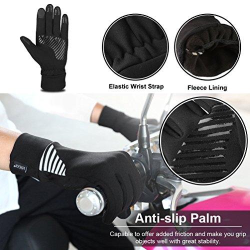 VBIGER Herren Touchscreen Handschuhe Anti-Rutsch Outdoor Sport Handschuhe Fahren Radfahren Handschuhe mit Fleece Liner für Herbst und Frühwinter - 4