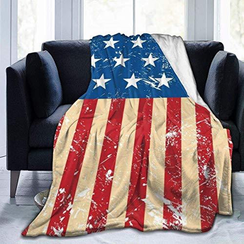 TUCBOA Bandera de los Estados Unidos Mantas de Tiro Ligeras Manta de Cama Manta de sofá Funda de sofá para Exterior/Interior M