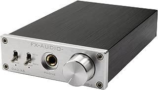 FX Audio DAC-X6 24BIT/192 - Amplificador de Audio Digital (óptico/coaxial/USB, decodificador DAC), Color Plateado