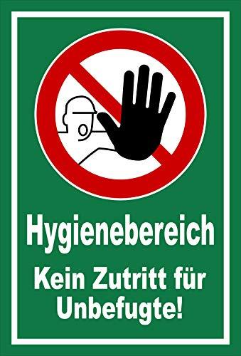 Melis Folienwerkstatt Schild Hygienebereich - 30x20cm - Bohrlöcher - 3mm Aluverbund – 20 VAR S00225-003-G