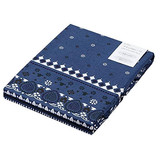 【Amazon.co.jp 限定】 東京 西川 SEVENDAYS ボックスシーツ シングル 洗える 北欧 速乾 アイロンいらず 軽量 やわらかな肌触り セブンデイズ バンダナ柄/ブルー PK01000541B