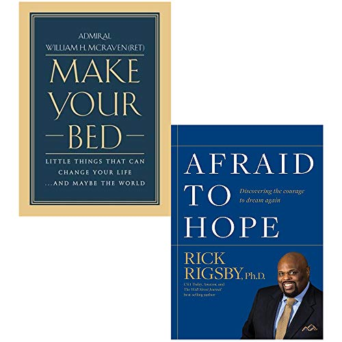Make Your Bed [Hardcover] and Afraid to Hope 2 Books Collection Set