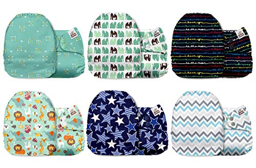 Mama Koala One Size Baby Washable Reusable Pocket Cloth Diapers