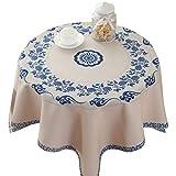 Xinwcanga Estilo Moderno Patrón Imprimir Mantel para Mesa Rectangular de Comedor Cocina Jardín y Bar (Beige*90#9)