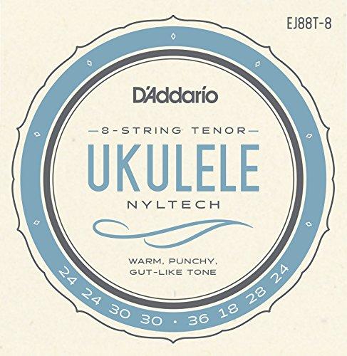 D'Addario EJ88T-8. Juego de cuerdas de Nyltech para ukelele. Tenor de 8 cuerdas