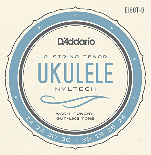 D'Addario Nyltech Ukulele Set, 8-String Tenor (EJ88T-6)