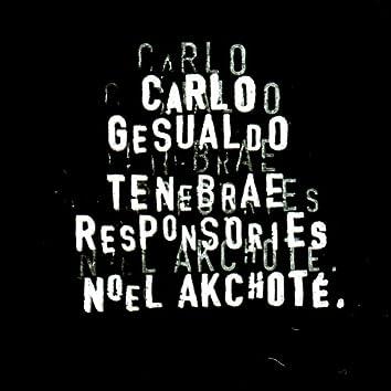 Carlo Gesualdo: Tenebrae Responsories for Good Friday (For Guitar)
