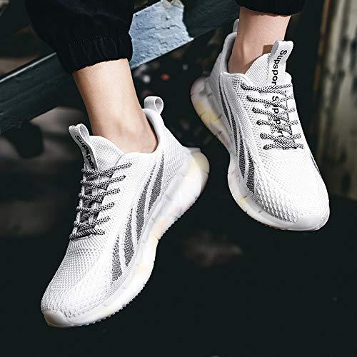 WERTYUH Zapatos para Correr para Hombres Zapatos para Mujeres Zapatos De Tenis Zapatos De Baloncesto Zapatos para Caminar Zapatillas De Deporte De Moda para Mujeres Zapatos para Caminar,White-45