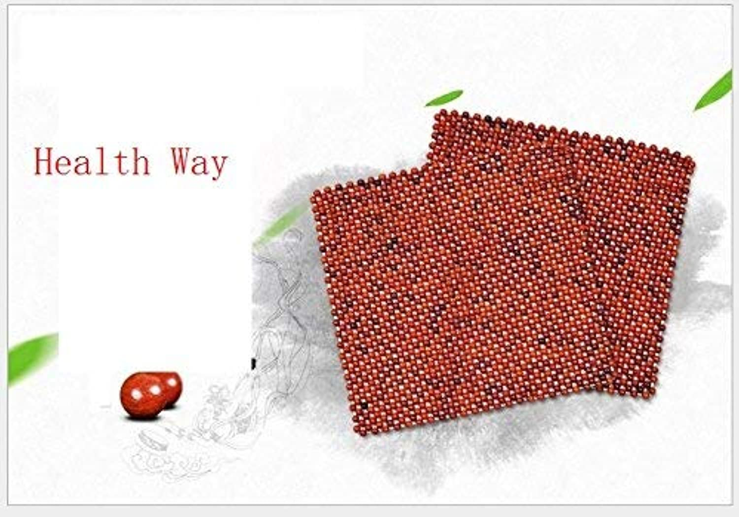 Comfortable Chair Seat Pads Cushion Car Wood Bead Cushion Vietnam Grass pinkwood Wood Beads car seat Summer Breathable Natural Beads backrest Cool pad (color   Grass pinkwood Square Mat)