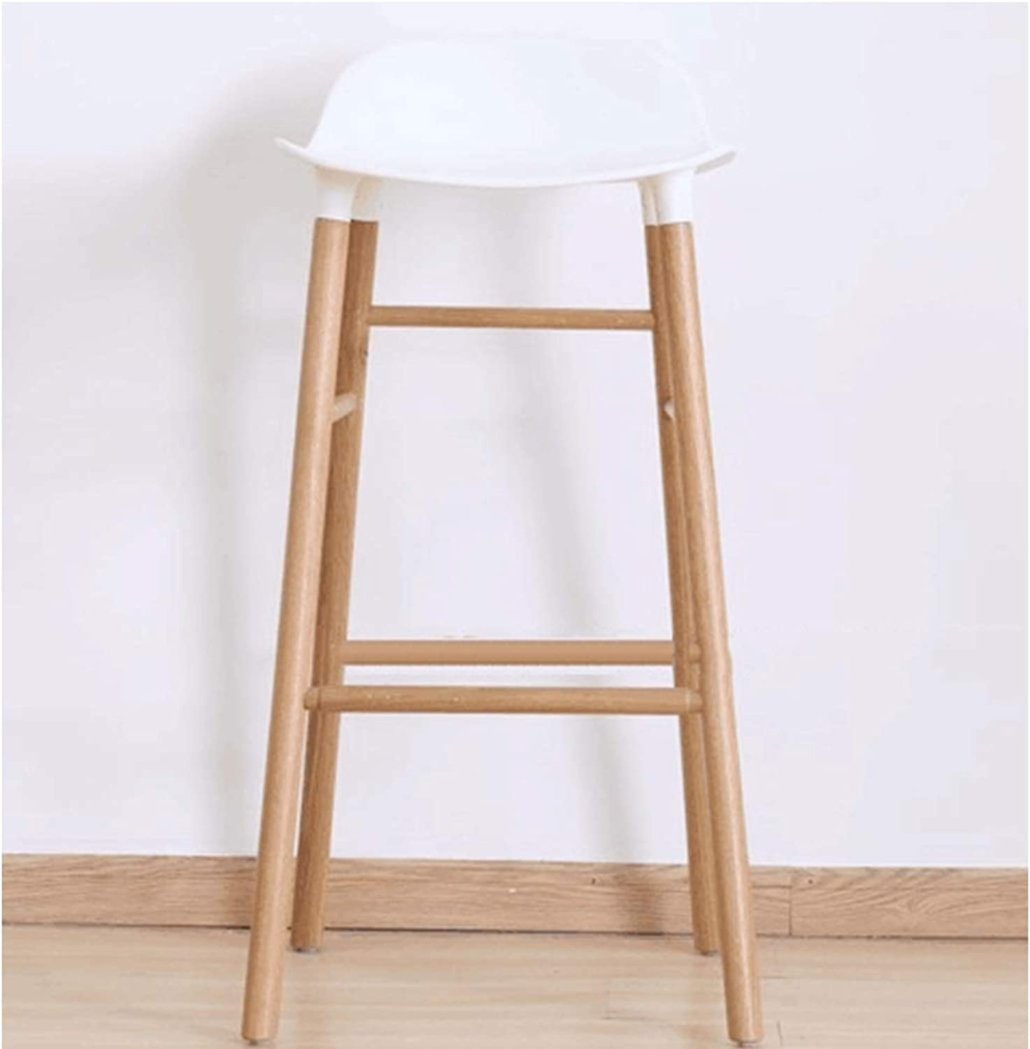 Solid Wood Leg Bar Chair Front High Chair Nordic Wind Simple Back Bar Stool Cash Register Chair Plastic High Stool
