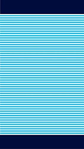 TEXTIL TARRAGO Toalla de Playa 90x180 cm 100% Algodon Egipcio Rallas Azul EGP457 ⭐