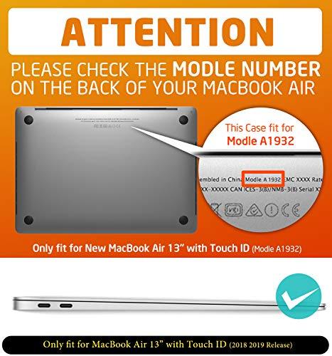 i-Blason MacBook Air 13 Hülle 2018 A1932 Robust Case Bumper Schutzhülle Hartschale Cover für MacBook Air 13