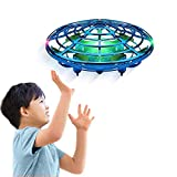 Drones for Kids Adults,Mini Drone Top Toys Unique Gifts for Boys Girls 8 9 10 11 12 Year Old,Hand Free Operated Indoor UFO Flying Ball Drone Toys-Blue