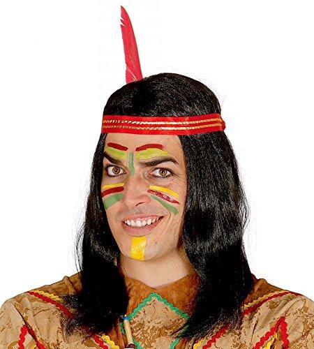 Guirca Fiestas GUI4167 – Perruque Indienne avec Plume (boîte de conteneur)