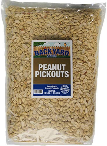 Backyard Seeds Shelled Peanut Pickouts for Woodpeckers, Birds, Squirrels, Wildlife (10 Pounds)