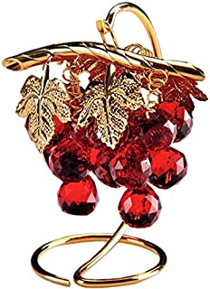 Crystal Asfour 13/16/501 Crystal Grapes Decor - Red And Gold