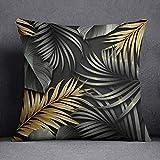 Bonamaison fundas de almohadones decorativos Funda de cojín Poliéster y algodón 45X45 cm