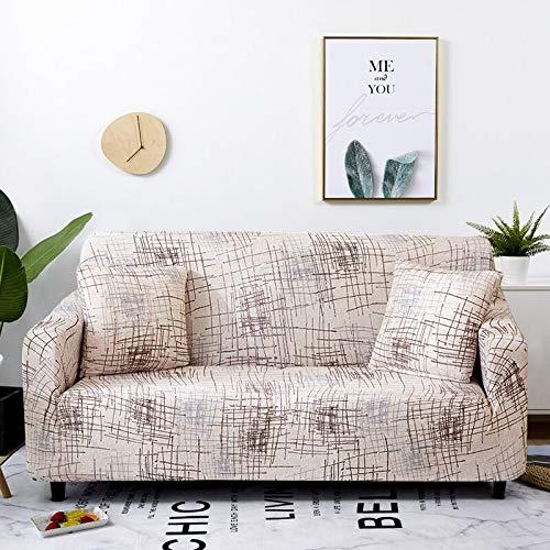 WXQY Funda elástica para sofá a Cuadros, Paquete Completo, Funda de sofá elástica antiincrustante para Sala de Estar, Funda para Silla de sofá A11, 1 Plaza