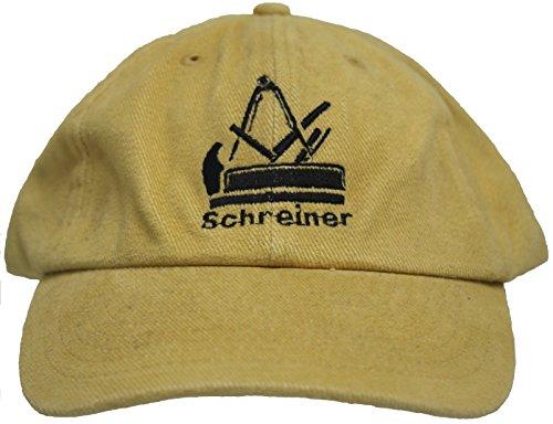 Fan-O-Menal Baseballcap mit Einstickung - Schreiner Handwerkszeichen Zunftzeichen - 68624 beige