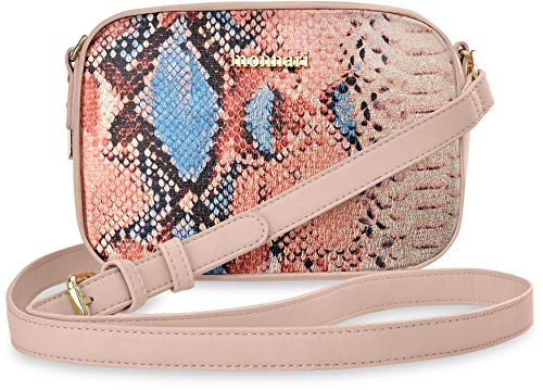 Monnari einizgartige Schultertasche Damentasche Schlangenmuster puderrosa