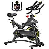Cyclace Exercise Bike Stationary 330 Lbs Weight Capacity- Indoor Cycling Bike with Comfortable Seat Cushion, Tablet Holder and LCD Monitor from Cyclace