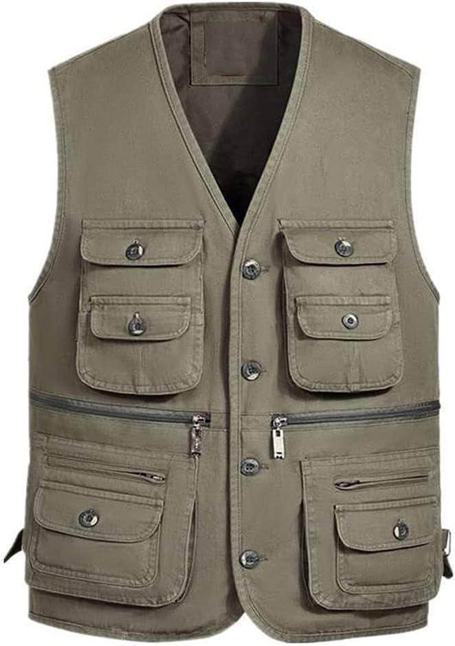 Fishing Vests for Max 73% OFF Men Photography Vest Multi-Pocket 25% OFF