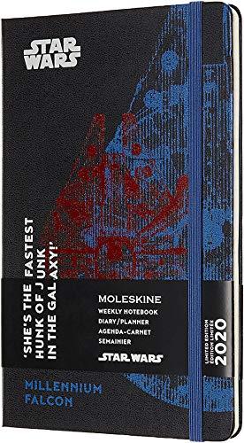 Moleskine Star Wars Special Edition Millennium Falcon Taschenkalender 2020 (mit Wochenübersicht, 12 Monate, mit Hardcover und elastischem Verschluss, Großformat 13 x 21 cm, 144 Seiten)