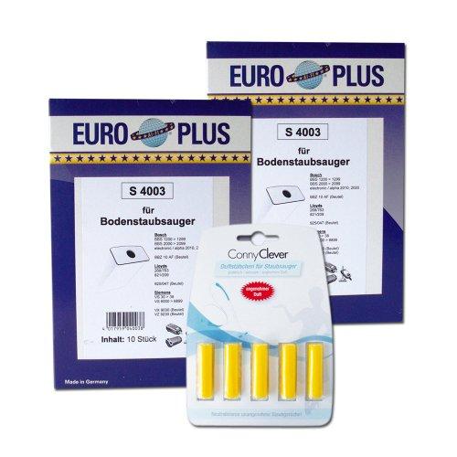 Euro Plus S 4003/2 2er Pack BoschSiemens Staubsaugerbeutel und 5 Conny Clever Duftstaebchen