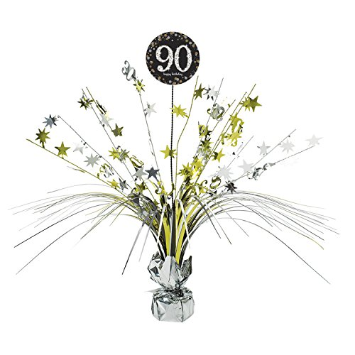 Amscan International 9901725 45 cm Gold Celebration 90. Mittelpunkt Spray