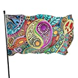 Viplili Banderas Outdoor Tumblr Static The Color of Drums in The Wind Singleton Hippie Art Garden Flag, Family Party Flag - 3 X 5 Ft