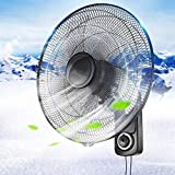 Mlxy 18 Zoll Wandventilator,5 Flügel, Luftzirkulation Größere Reichweite, 120 ° automatischer Schüttelkopf