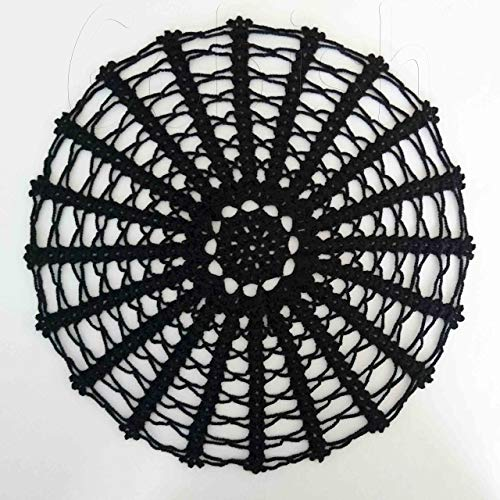 LIGHTLY STARCHED crocheted table mat kitchen placemat for home accessories black doily