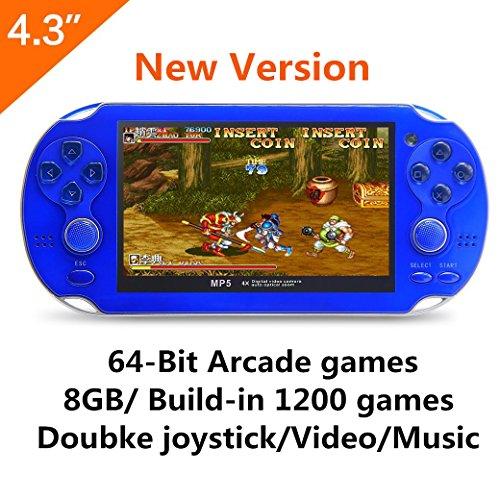 Console per videogiochi CZT da 4,3 pollici a 64 GB da 8GB Built-in 1200 giochi non ripetitivi incorporati Supporto Arcade NEOGEO/CPS/FC/NES/SFC/GBC/GBA/SMC/SMD Giochi SEGA MP3 MP5 DV/DC Ebook