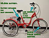 SCOUT Electric tricycle, folding frame, aluminium, 6 gears, electric trike, 250w motor (Red)