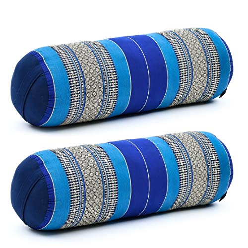 Leewadee Long Yoga Bolster Set of 2 Supportive Pilates Roll Cushion Neck Pillow...