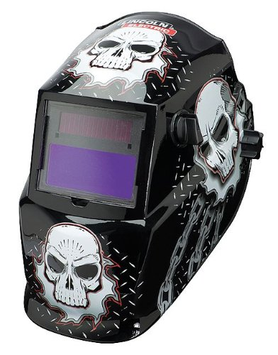 Lincoln Electric Variable-Shade Auto-Darkening Welding Helmet - Skull Design, Model# K3087-1