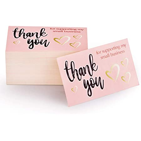 50 Pcs Thank you for Supporting My Business Cards Customer Thank You Cards SMB11