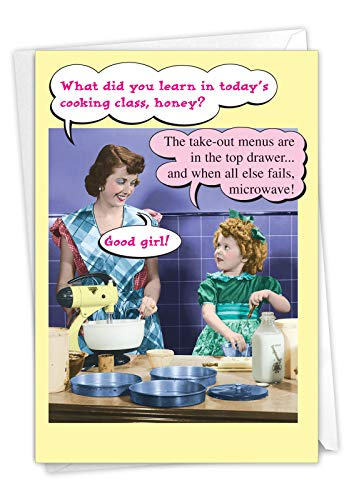 NobleWorks - Funny Mothers Day Card with Envelope - Loving, Humor Greeting Card for Mom - Microwave 0071