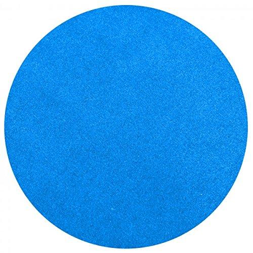 havatex Rasenteppich Kunstrasen mit Noppen 1550 g/m² rund - Anthrazit, Blau, Rot, Braun, Grau oder Beige | wasserdurchlässig | Balkon Terrasse Camping, Farbe:Blau, Größe:100 cm rund