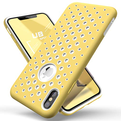 SUPCASEUnicornBeetleSportSeriesforiPhoneXsCase2018Release,LiquidSiliconeRubberTPUPremiumHybridCase[HolePattern]withHeatDissipation(Yellow)