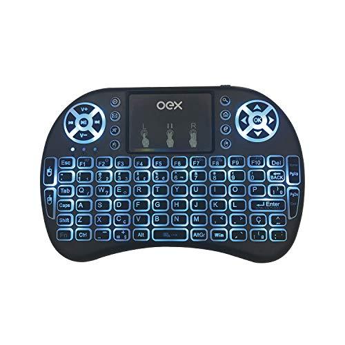 OEX CK103 Air Mouse, 2 em 1 - Mouse e Teclado Wireless 2,4 GHz, USB Nano, Preto