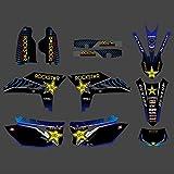 Pegatinas de Motocross Antecedentes gráficos Adhesivos Pegatinas Motocicleta for Yamaha WR450F WR 450F WRF 450 2012 2013 2014 2015