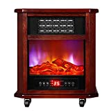 Fireplace- Electric Built-in Heater 3D Flame Effect Wall Mountable Overheating Protection Adjustable Thermostat