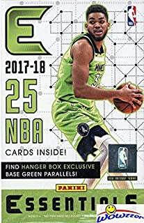 2017/18 Panini Essentials NBA Basketball HUGE EXCLUSIVE Factory Sealed Hanger Box with 25 Cards! Look for RCs & Autos of Donovan Mitchell, Jayson Tatum, Kyle Kuzma, De'Aaron Fox & Many More! WOWZZER!