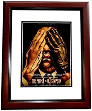John Travolta and Cuba Gooding Jr Signed - Autographed The People vs O.J. Simpson 8x10 inch Photo MAHOGANY CUSTOM FRAME - Robert Shapiro