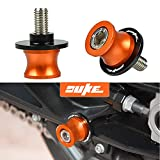 Duke CNC Montageständer M10 Bobbins Ständeraufnahme Für KTM Duke 125 200 250 390 690 790 890 R 990 1290 / RC125 RC200 RC250 RC390 / 690 Duke R / 690 LC4 Supermoto LC4 Enduro / 690 SMC(Orange)